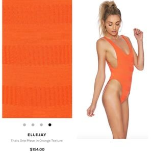 8f114bb36d ElleJay Swim | Revolve Thais One Piece Orange Texture | Poshmark